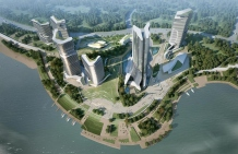 "IO designed a ""Floating Garden"" in Changzhou West Tai Lake"